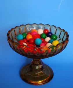 vtg amber bowl